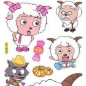 radiant lamb stickers (JDC178)